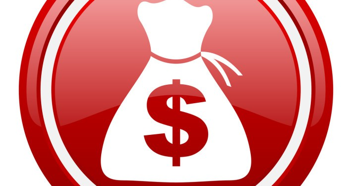 Red cash flow bag