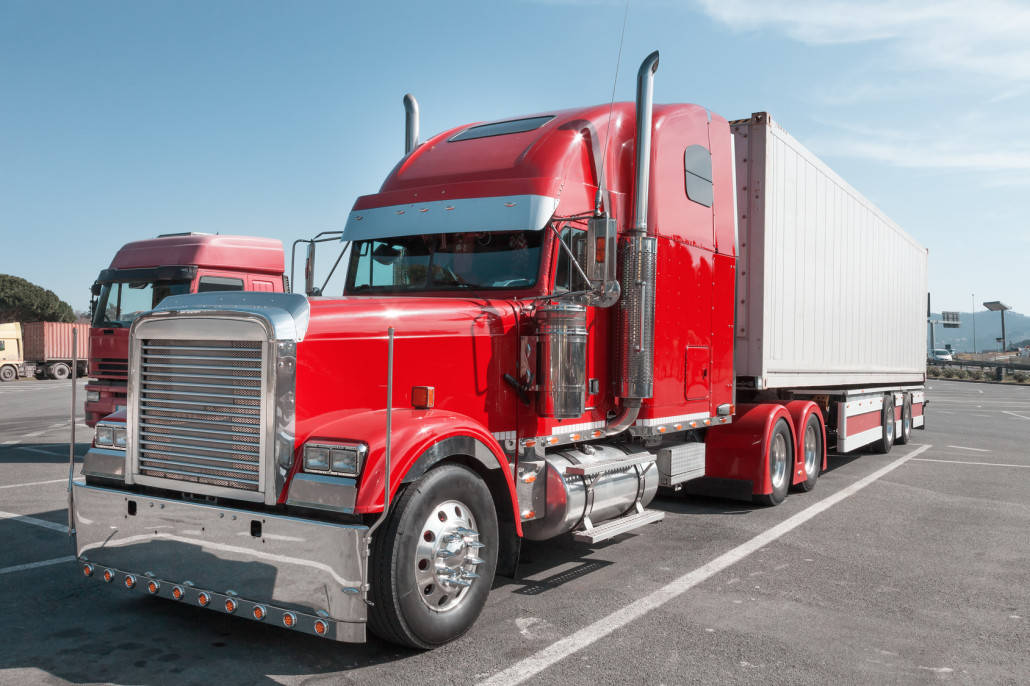 Bright red trucking factor