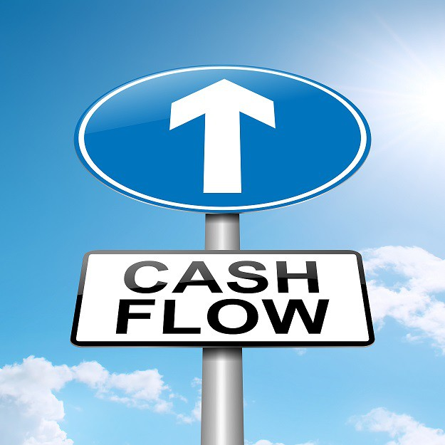 Blue sky cash flow sign