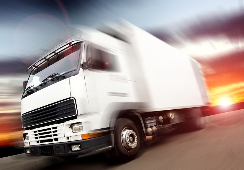 Blurred truck driver