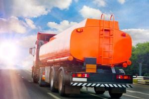 Orange trucking driver